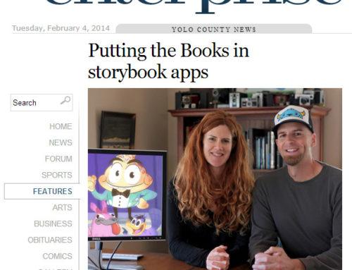 Mighty Yeti Kickstarter article in The Davis Enterprise newspaper