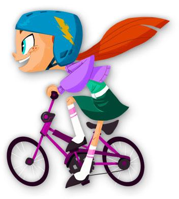 Maggie-biking