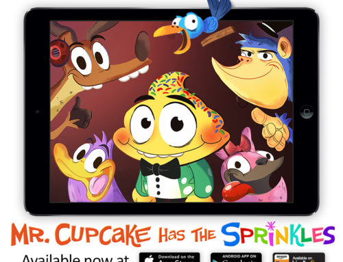 Mr. Cupcake kids storybook app is launched on App Store, Kindle, Google Play!